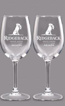 2 x Ridgeback 470ml Rotweinglas klassisch mit Namensgravur - frachtkostenfrei nach D